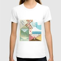 letters T-shirts featuring Love Letters by INKATURA