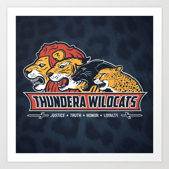 Thundera Wildcats Art Print