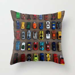 1980's Toy Cars Throw Pillow