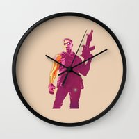 the winter soldier Wall Clocks featuring Winter Soldier by Simon Alenius