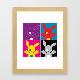 """Four Bob"" (from War-hol) Framed Art Print"