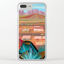 Desert Town Clear iPhone Case