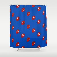 spider man Shower Curtains featuring Spider.  Man.   by Designs By Misty Blue (Misty Lemons)