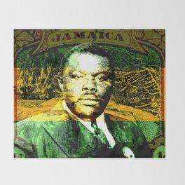 Marcus Garvey Jamaican Freedom fighter Throw Blanket