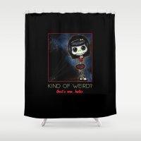 weird Shower Curtains featuring Weird Skeleton by Schwebewesen • Romina Lutz
