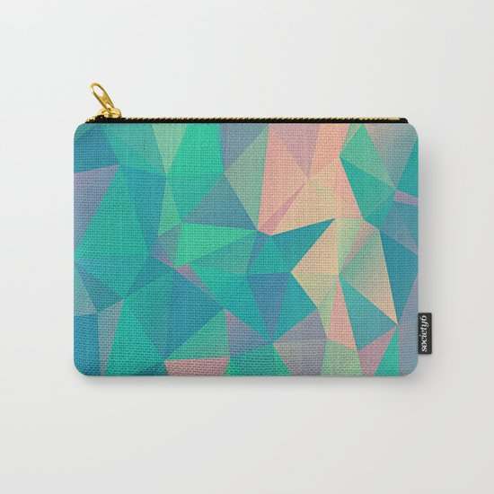 Fractured, Colorful Triangles Geometric Shapes Carry-All Pouch