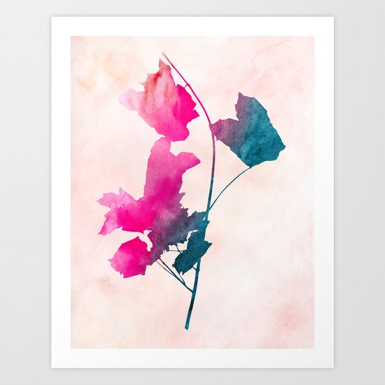 Maple_Watercolor 1 by Jacqueline & Garima Art Print