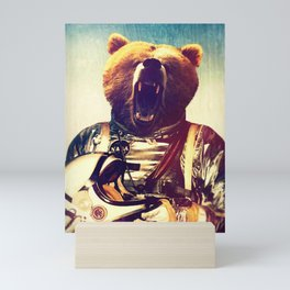 Astro bear Space Mini Art Print