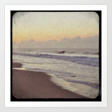 Where the Clouds Meet the Waves Art Print