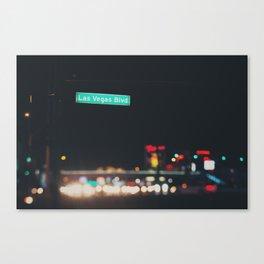 Las Vegas Boulevard ... Canvas Print