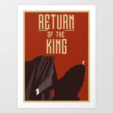 Return Of the King Art Print