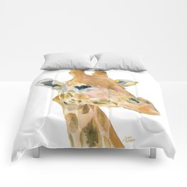 Giraffe Watercolor Comforters