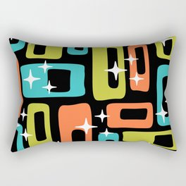 Retro Mid Century Modern Abstract Pattern 222 Orange Chartreuse Turquoise Rectangular Pillow