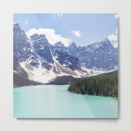 Moraine Lake Photography | Travel Alberta | Beautiful Landscape | Nature | Turquoise Water Metal Print