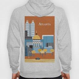 Atlanta, Georgia - Skyline Illustration by Loose Petals Hoody