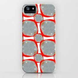 Red Organic Rings iPhone Case