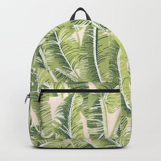 Banana Leaf Pattern Backpack