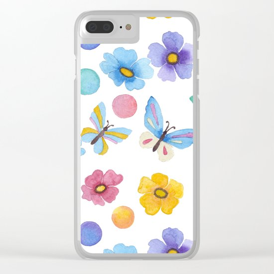 Spring . Butterfly . Clear iPhone Case