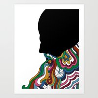 beard Art Prints featuring Beard by Paco de Nadie
