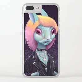 Follow the green rabbit Clear iPhone Case
