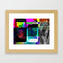 Words of Contempt Framed Art Print