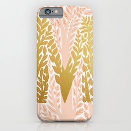Botanical Metallic Monogram - Letter M iPhone Case