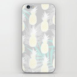 Elegant Pineapple Tropical Beach Pattern iPhone Skin