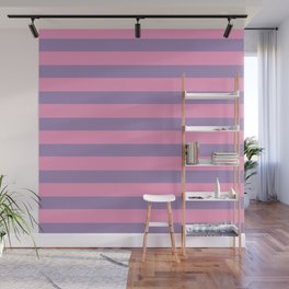 Pink & Lavender Stripe Pattern Wall Mural