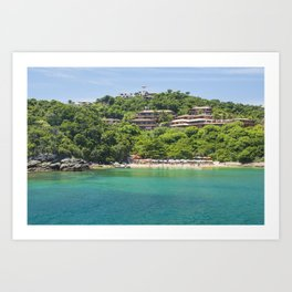 Buzios beach (#brasil) with turquoise water Art Print