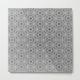 Geometric Tiled Design Metal Print