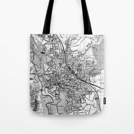 Vintage Map of Hanover Germany (1895) BW Tote Bag
