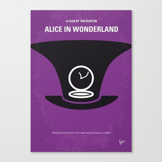 No140 My Alice in Wonderland minimal movie poster Canvas Print