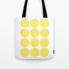 Yellow and White Abstract Art Tote Bag
