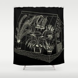 transparent greenhouse Shower Curtain