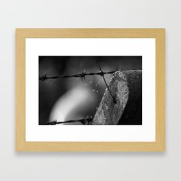 Rusty spikes & dead things Framed Art Print