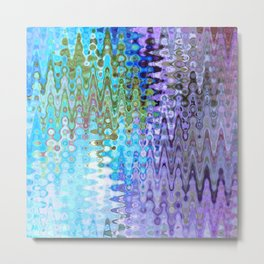Charming Distractions, Abstract Art Waves Metal Print