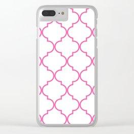 Quatrefoil - Bubblegum Clear iPhone Case