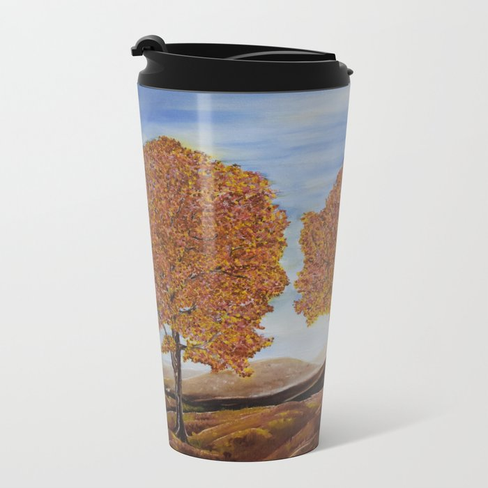 Fall trees Metal Travel Mug
