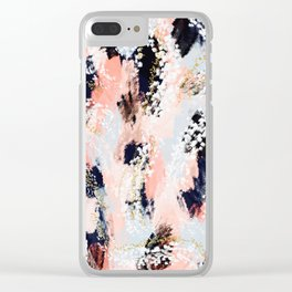 Julia Abstract Clear iPhone Case