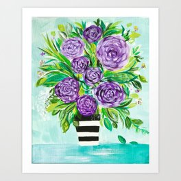 Purple Bouquet Delights Art Print