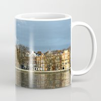 chelsea Mugs featuring Sunlit Chelsea by Laura George