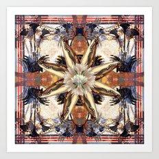 Nile Crocodile Kaleidoscope Art Print