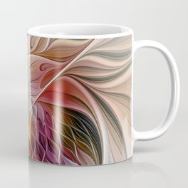 Colorful Abstract Flower Fractal Coffee Mug
