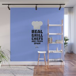 Real Grill Chefs are from Spain T-Shirt Wall Mural