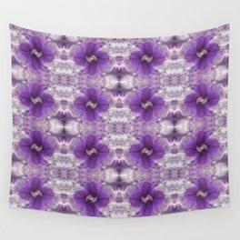 Violet Pansies Pattern Wall Tapestry