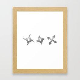 Ninja Weapons - Shurikens Framed Art Print