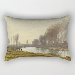 The Petite Bras of the Seine at Argenteuil by Claude Monet Rectangular Pillow