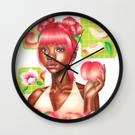 Peachy Girl Wall Clock