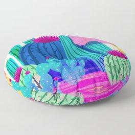 Cactus Sunset Floor Pillow