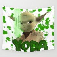 yoda Wall Tapestries featuring Yoda by BellaG